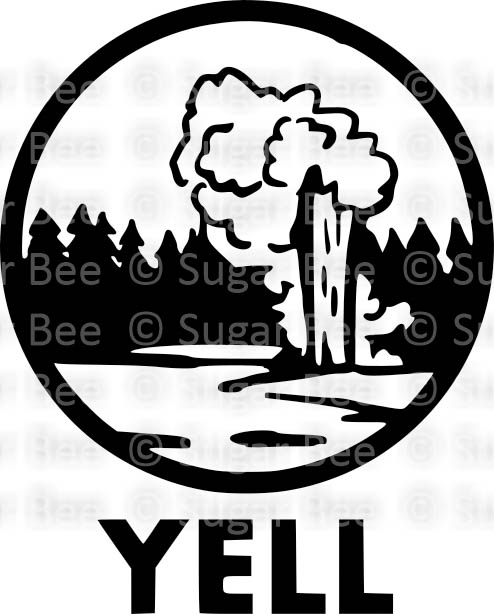 Yellowstone cutfile circle logo png watermark
