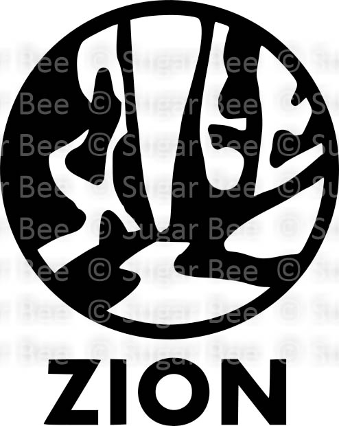 Zion National Park circle logo png watermark