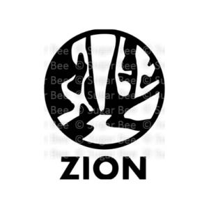 Zion national park circle logo watermark