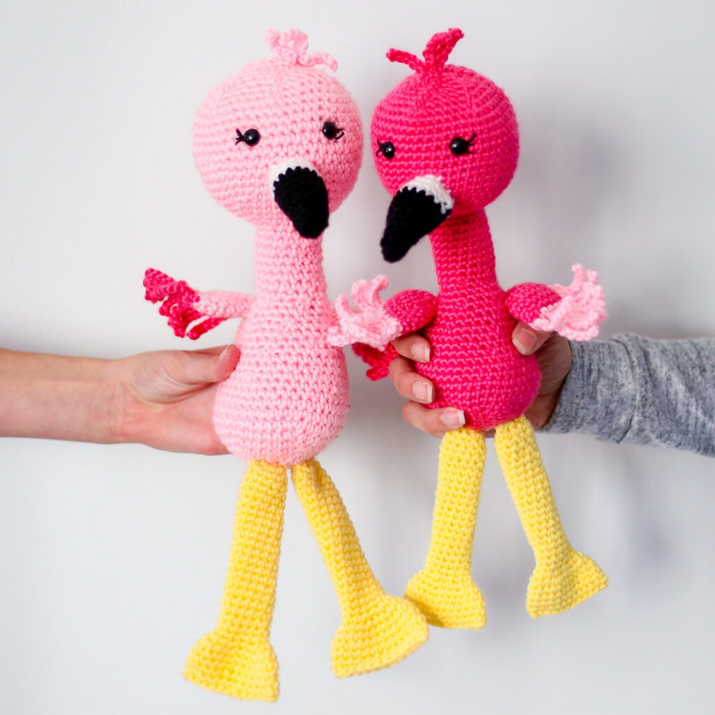 Crochet flamingo pattern 7