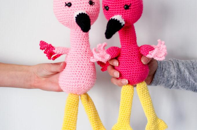 Crochet flamingo pattern 7