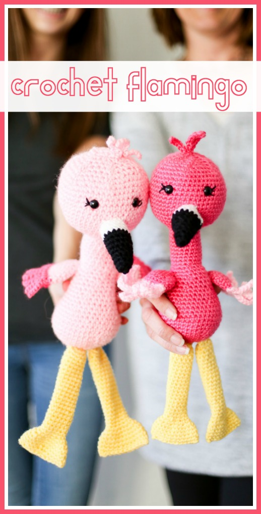 Crochet flamingo pattern