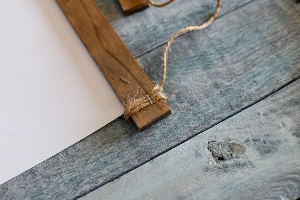 Diy wood stick hanging frame 10