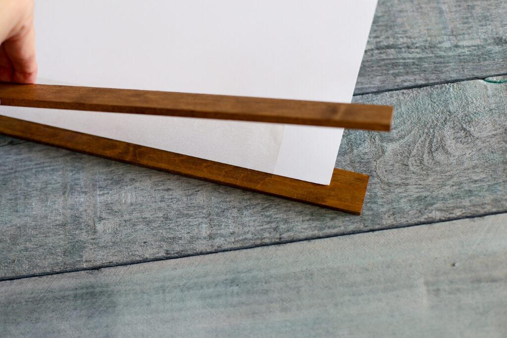 Diy wood stick hanging frame 7