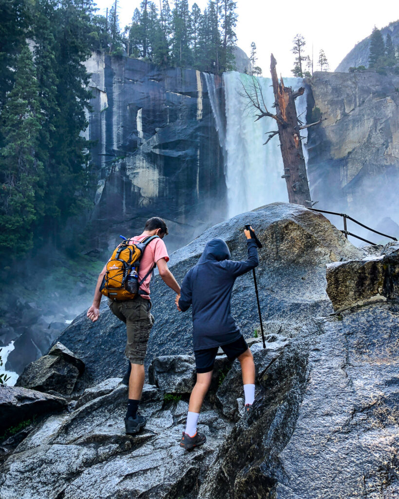 mist trail ascent