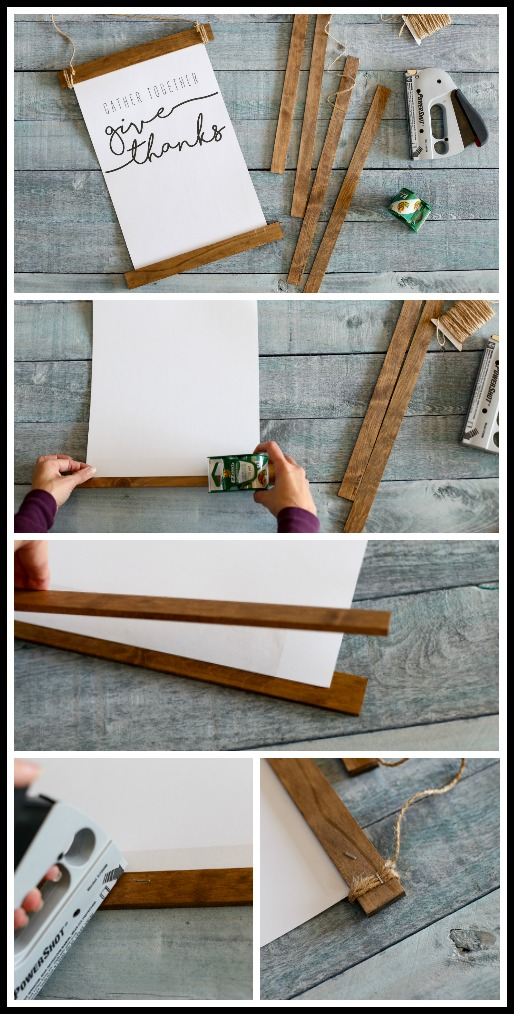 How to make a wood stick hanging frame