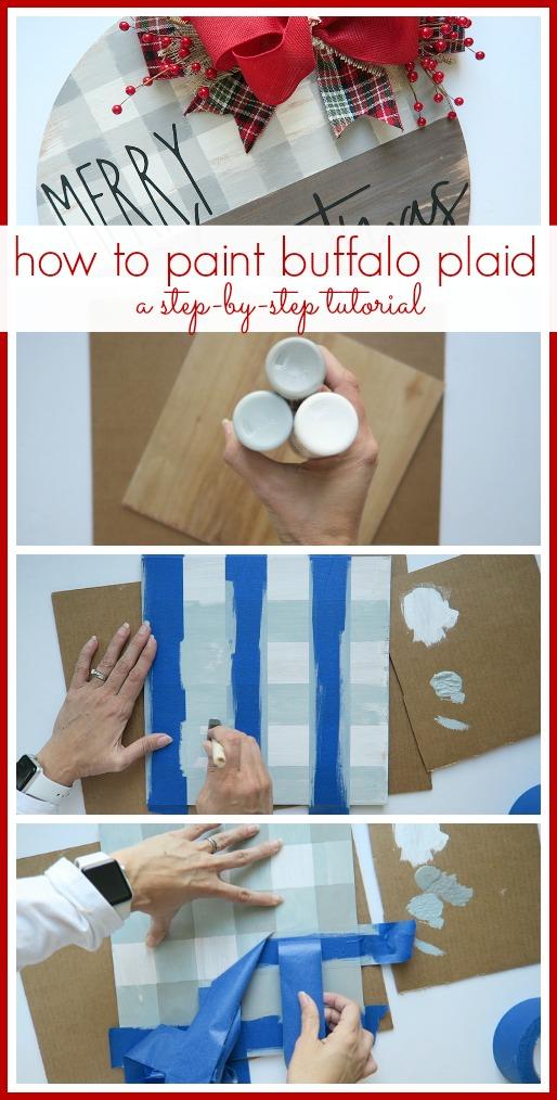 How to paint buffalo plaid
