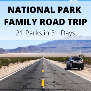 National park family road trip