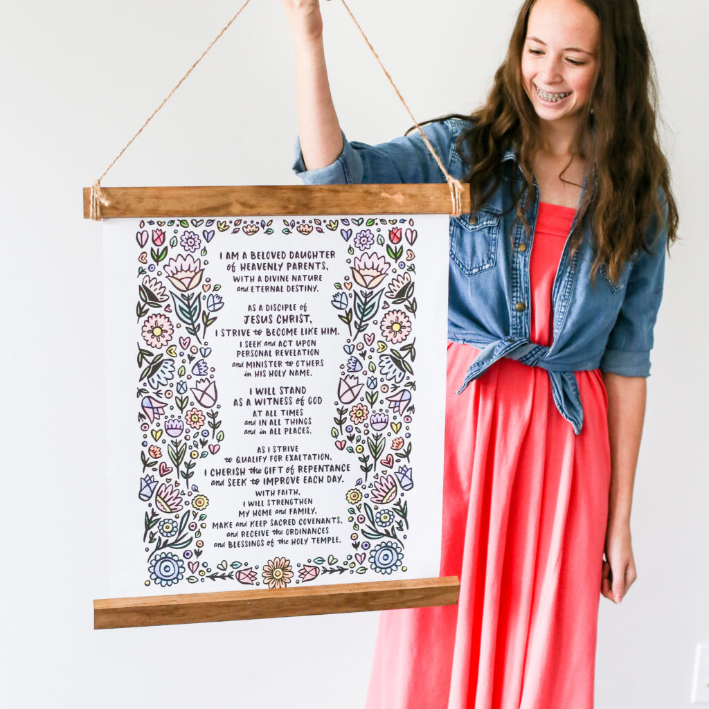 New young women theme printable poster sign 2020 5