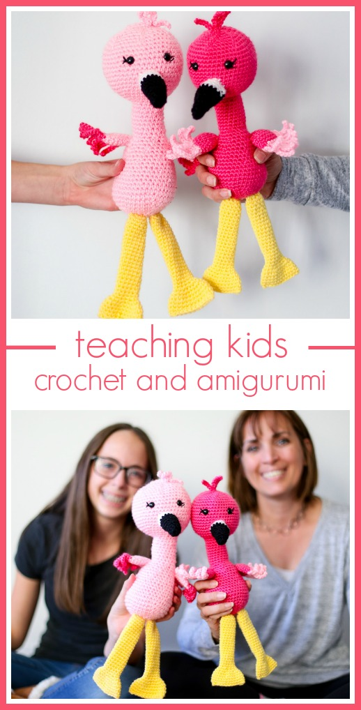Teaching kids how to crochet and amigurumi
