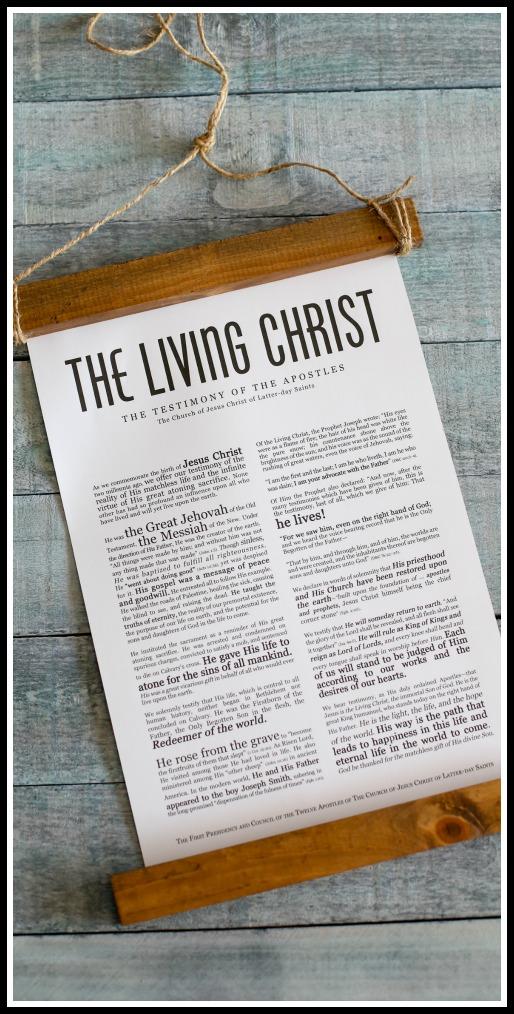The living christ modern print