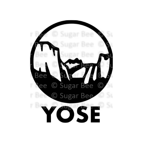 Yosemite national park circle logo watermark
