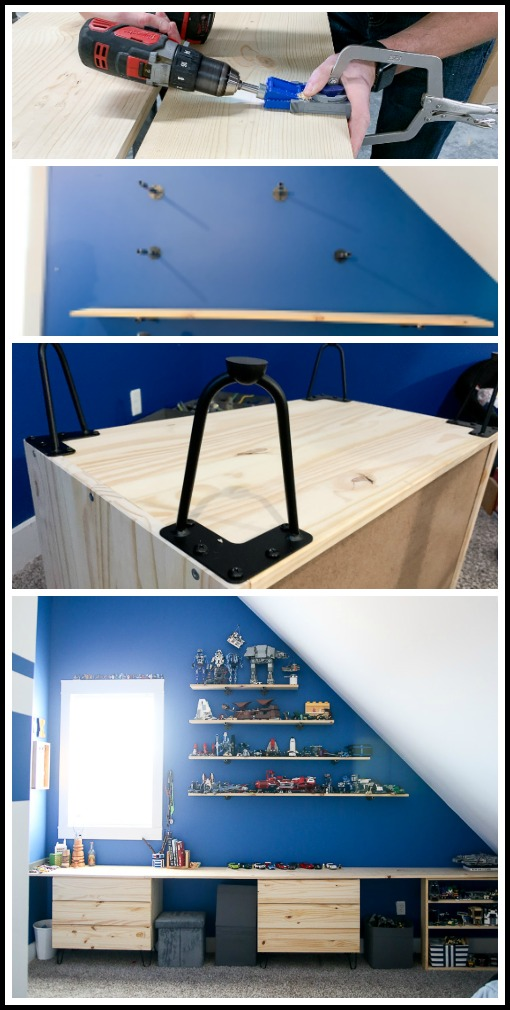 Boys room shelving