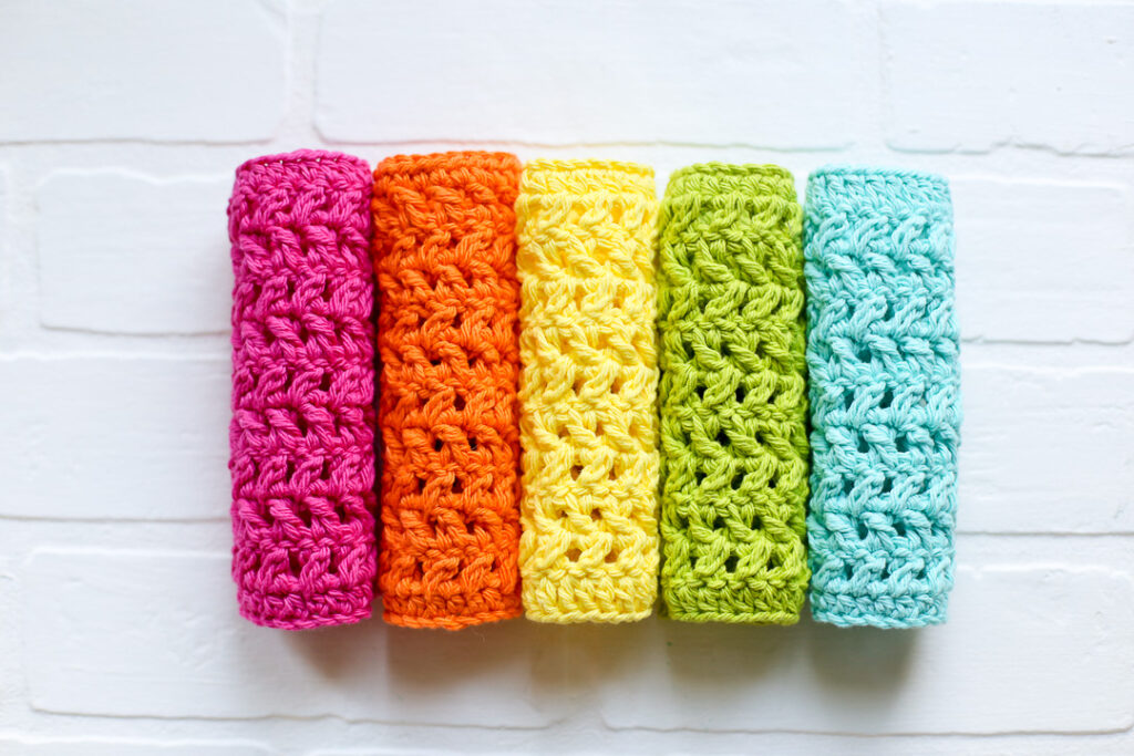 Crochet dishcloth simple pattern free 2