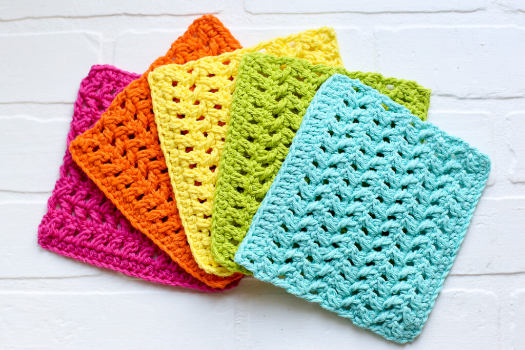 Crochet dishcloth simple pattern free 7
