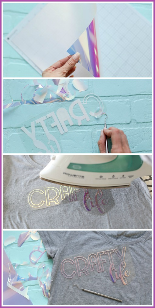 How to use holographic heat transfer vinyl