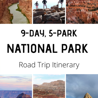 9 day sw national park road trip itinerary