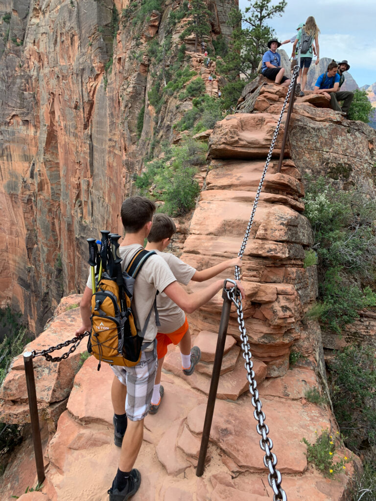 Angels landing hike zion with kids 02