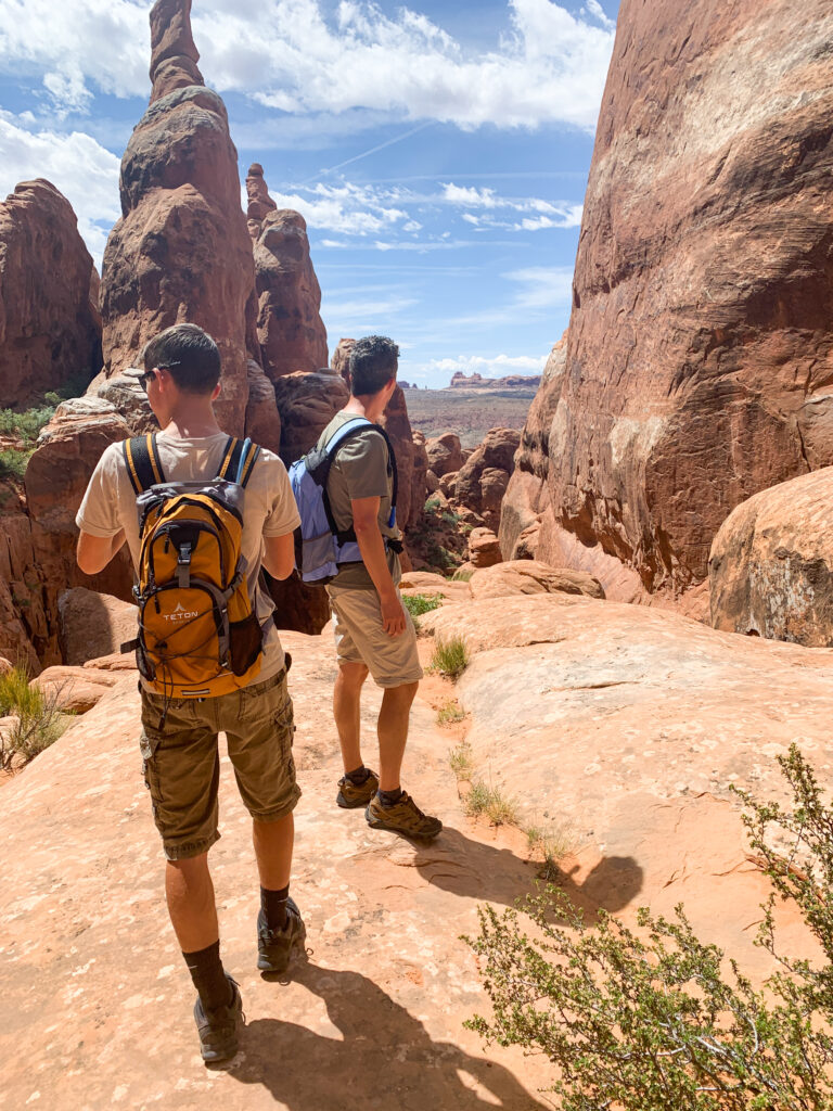 Arches fiery furnace hike amazing views