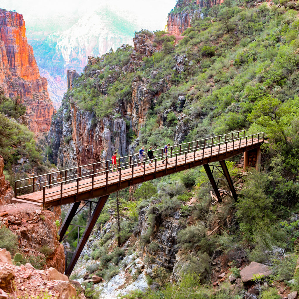 Grand canyon north rim hike an Day 4 Southwest family road trip itinerary