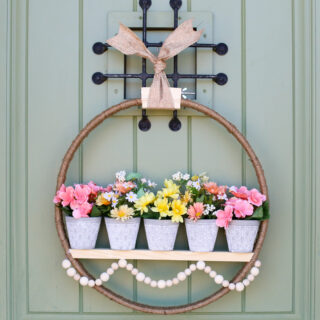 Spring floral pot wreath 32