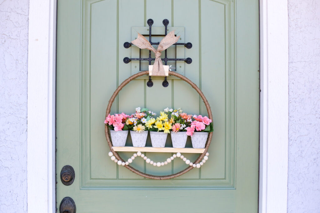 Spring floral pot wreath 33