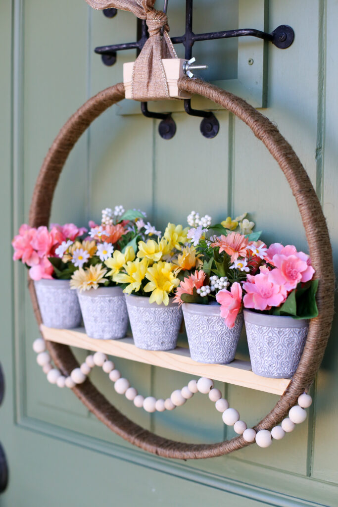 Spring floral pot wreath 34
