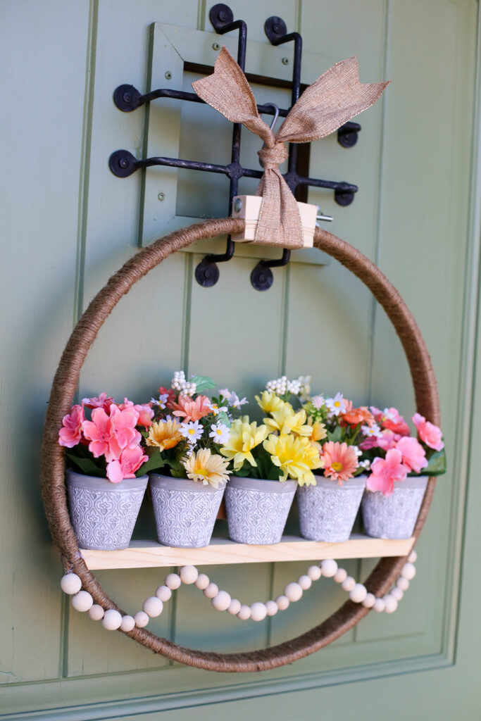 Spring floral pot wreath 37