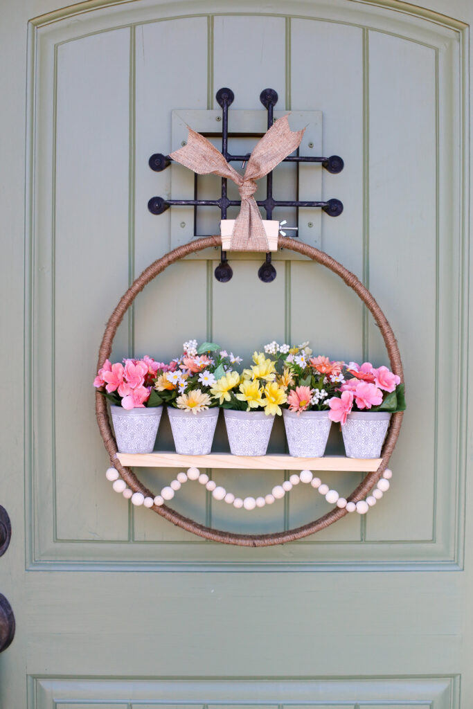 Spring floral pot wreath 38