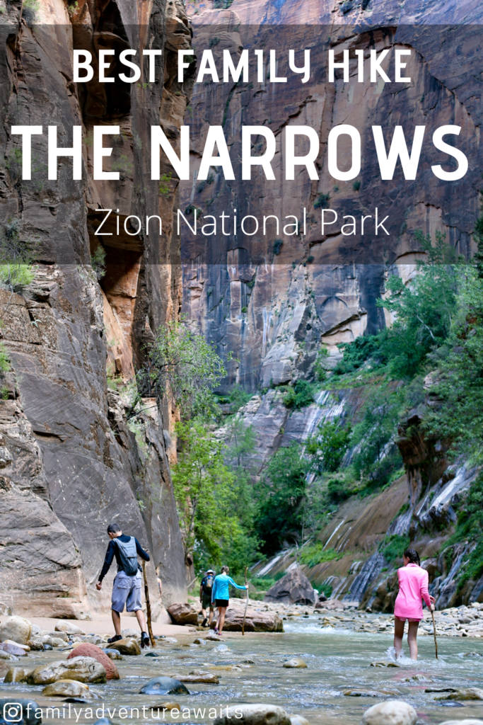 The narrows best family hike at zion