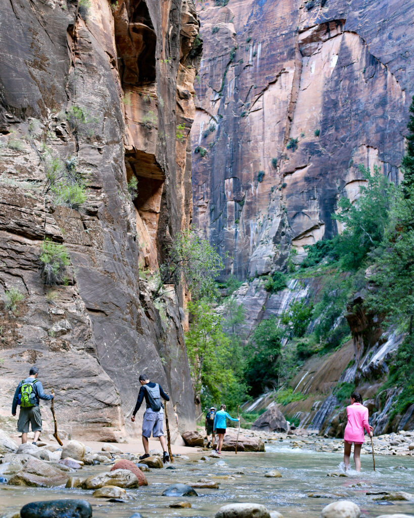 The narrows zion family hike 07