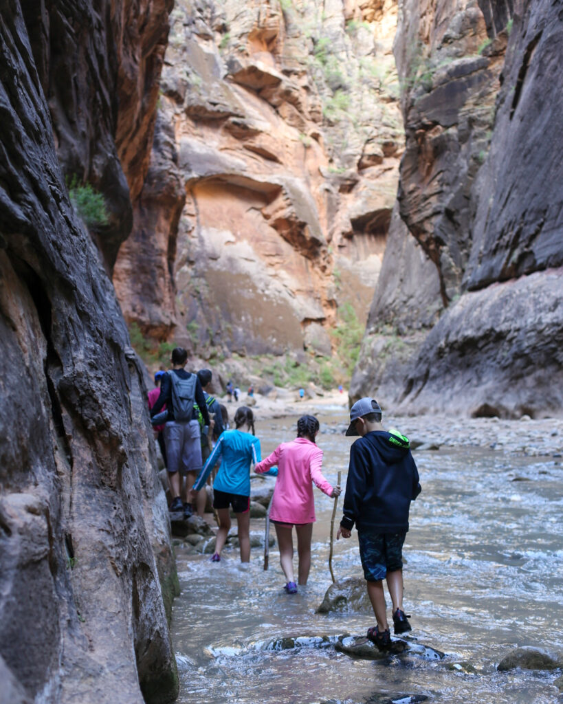 The narrows zion family hike 12
