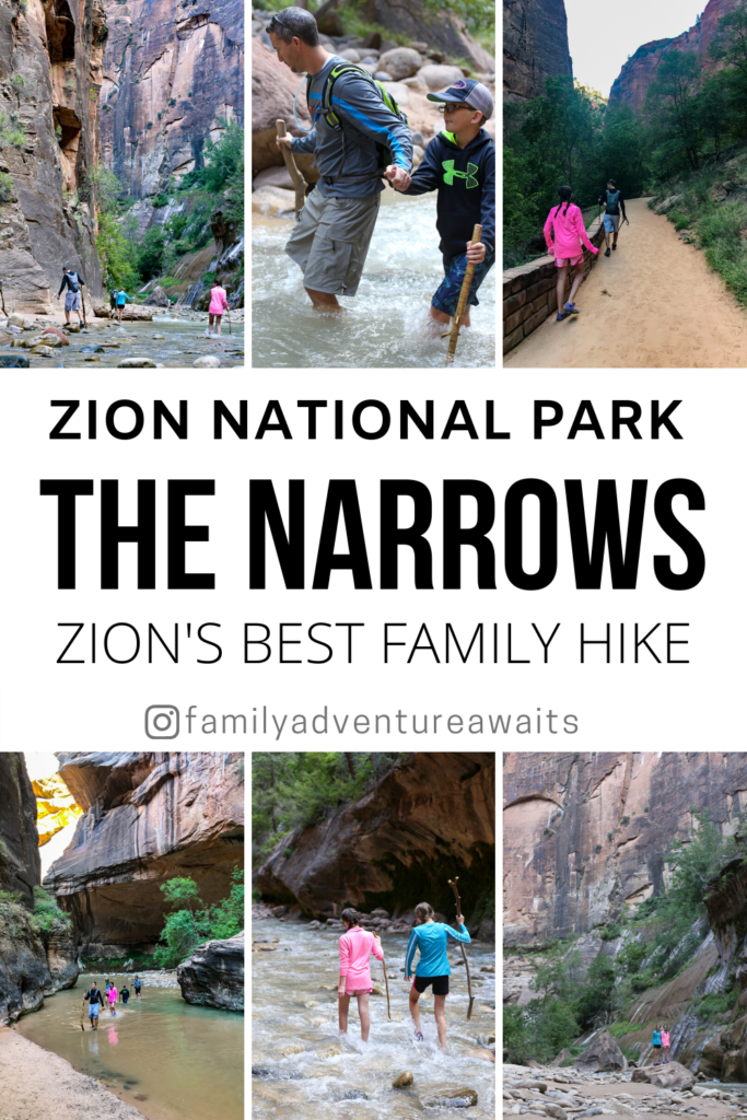 The narrows zion family hike