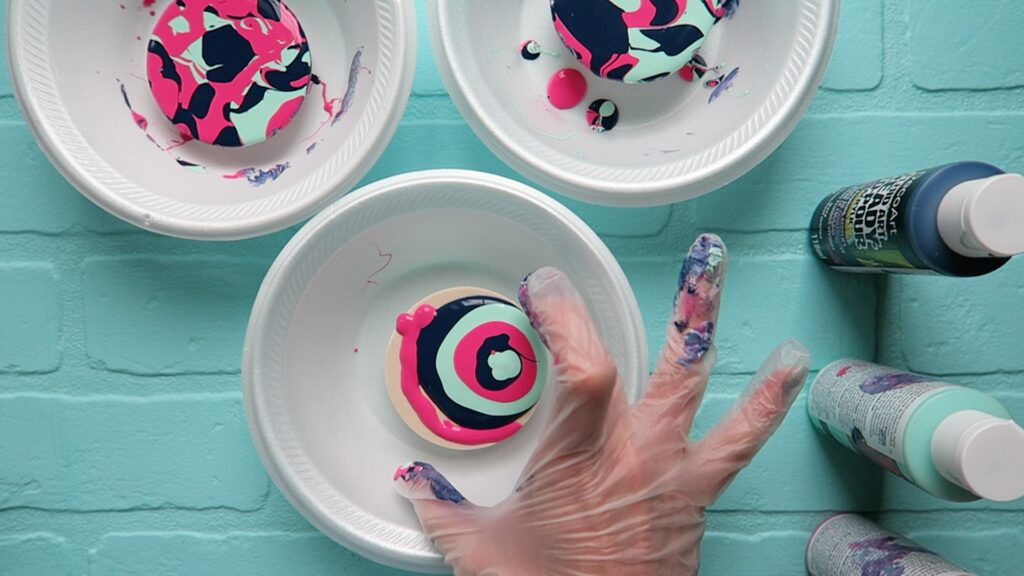 Paint pour coasters 3