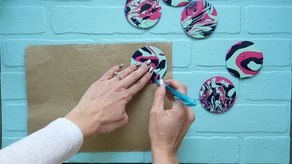 Paint pour coasters 5