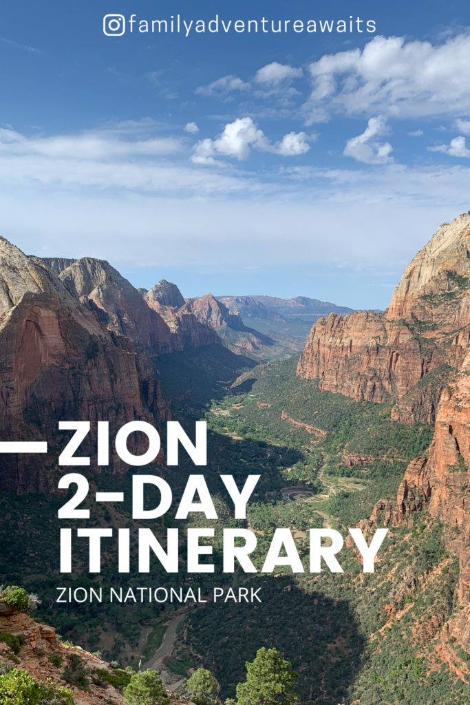 Zion 2 day itinerary tall