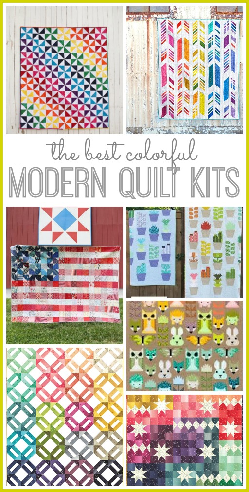 Best colorful modern quilt kits