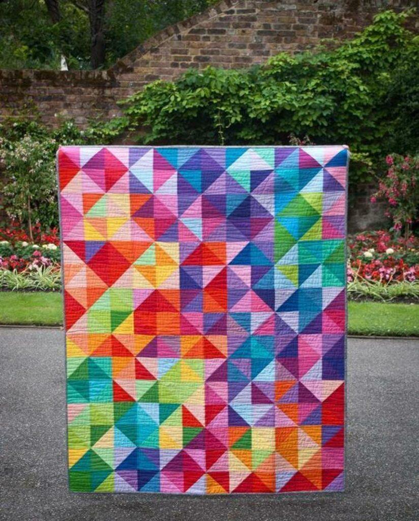 Bright modern quilt kit
