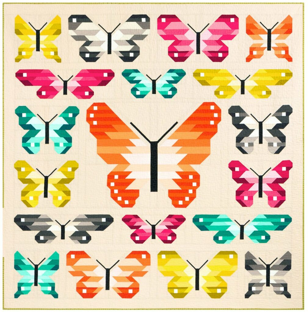 Butterfly quilt kit many