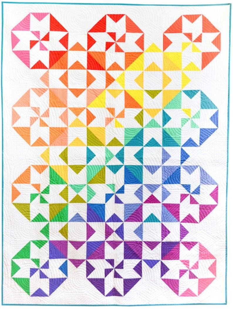 Color wheet quilt kit