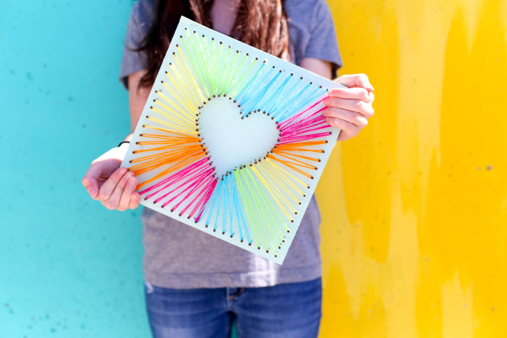 Easy string art idea 25
