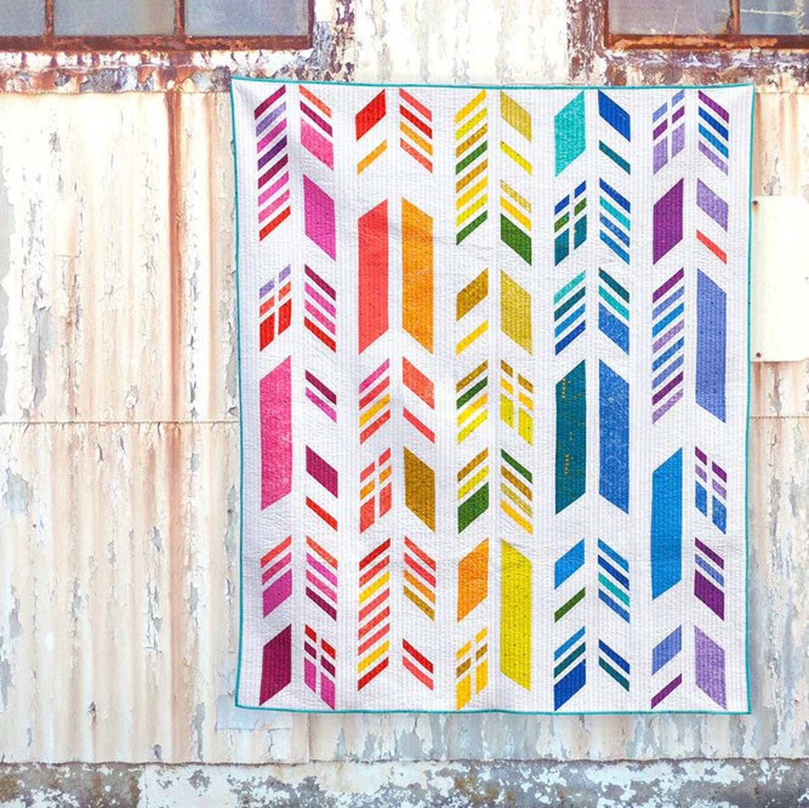 Feathers quilt kit