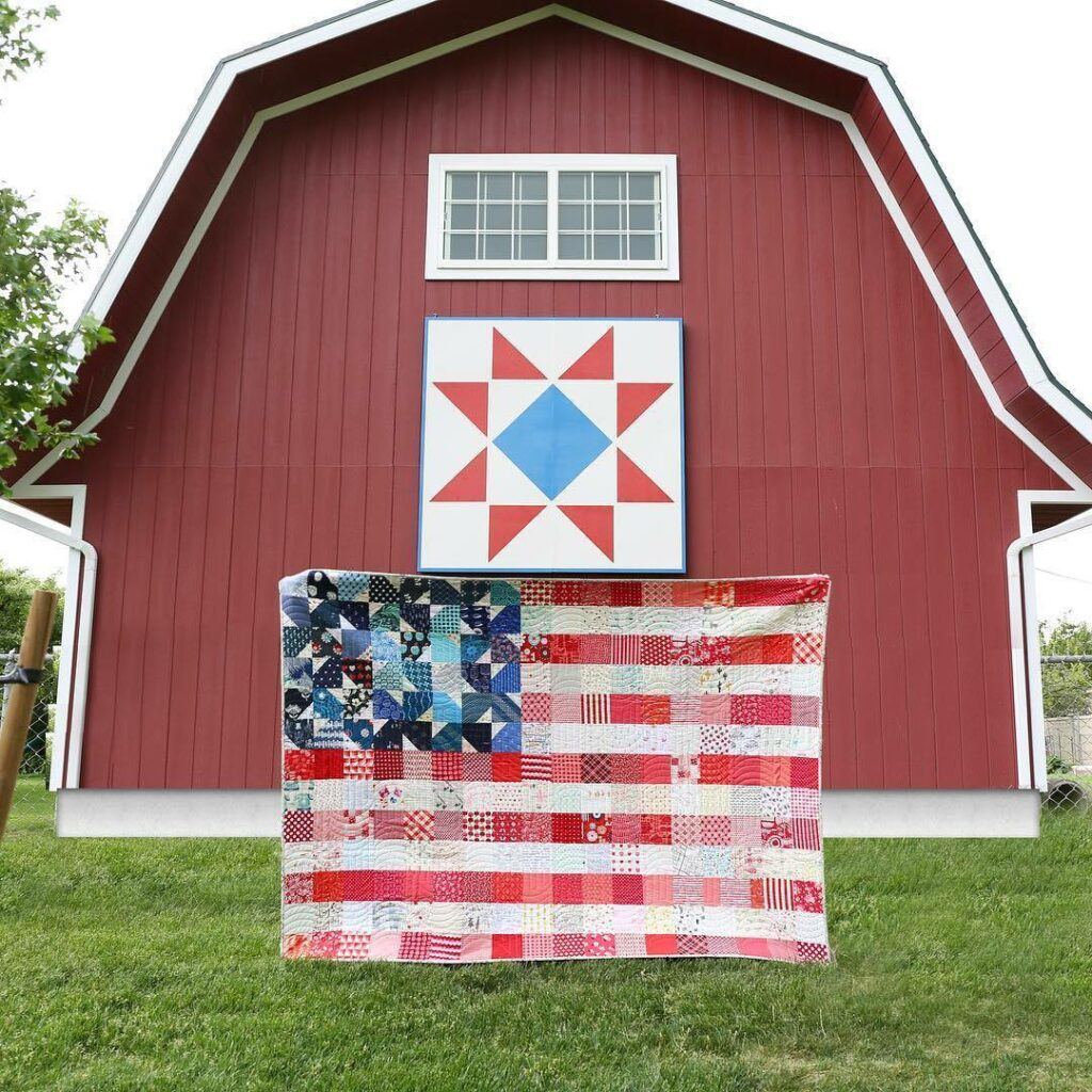 Flag quilt pattern quilt kit