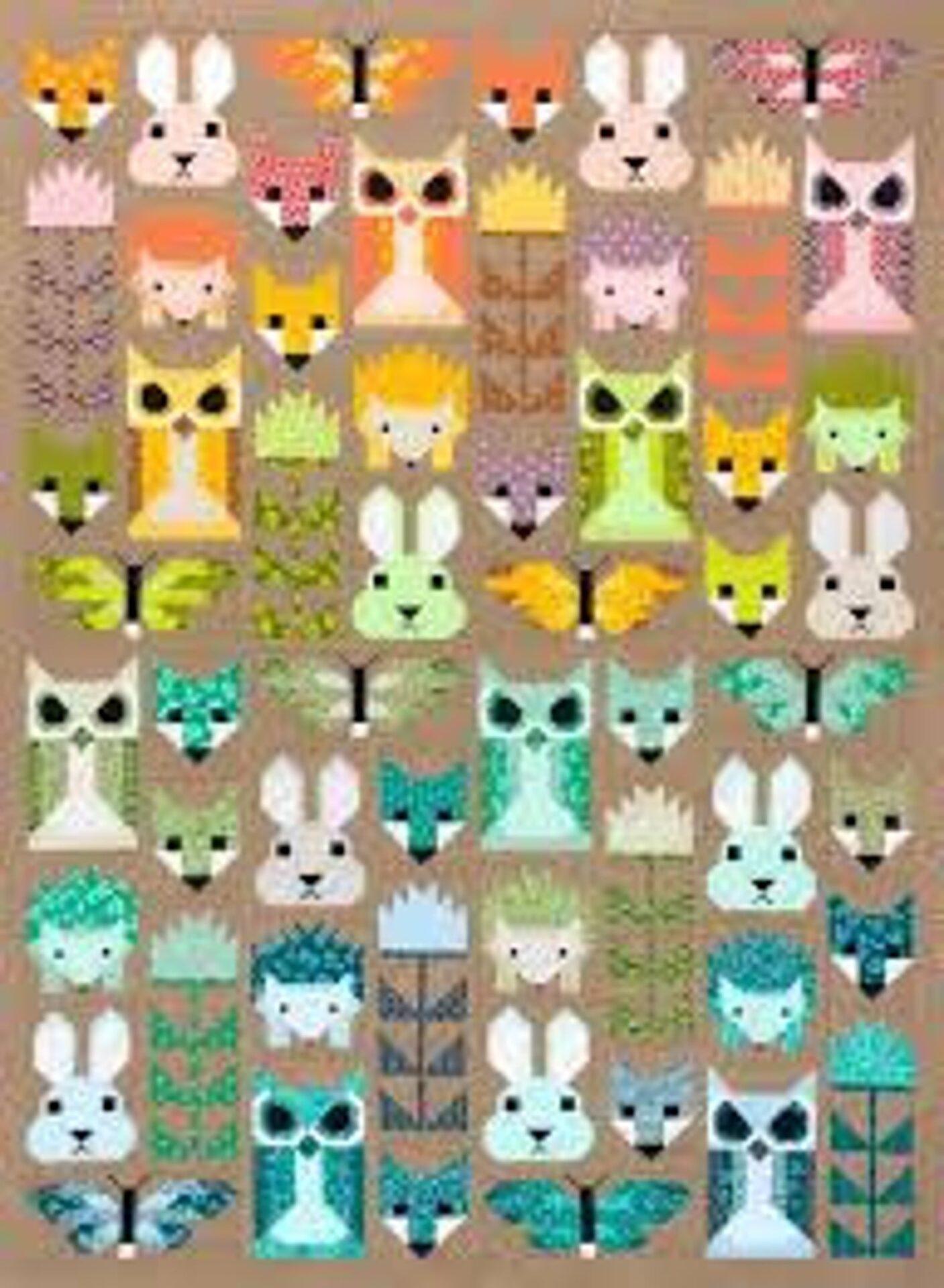 Forest animals quilt kit