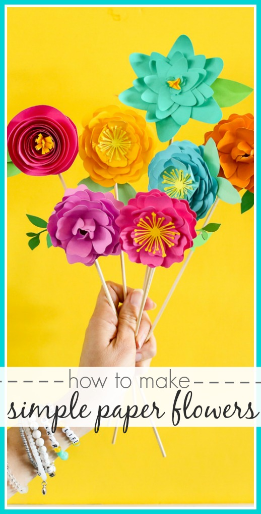 How to make simple paper flowers