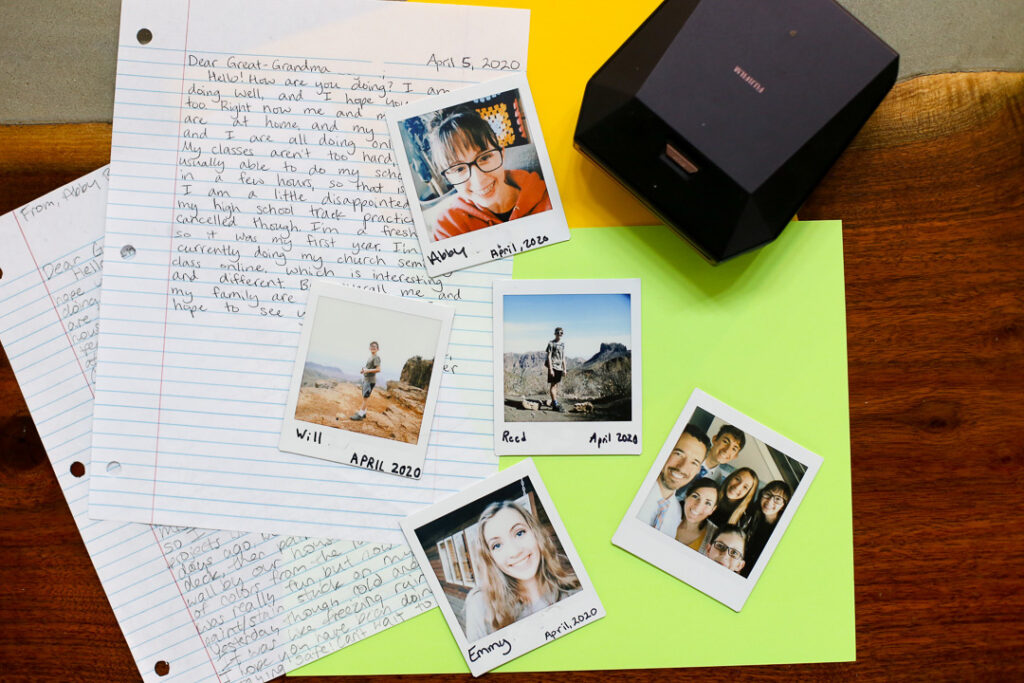 Instax polariod idea letter