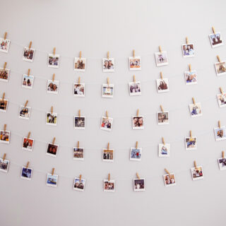 Instax polariod wall teen room idea 3