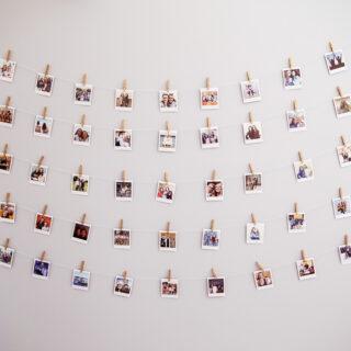 Instax polariod wall teen room idea 3