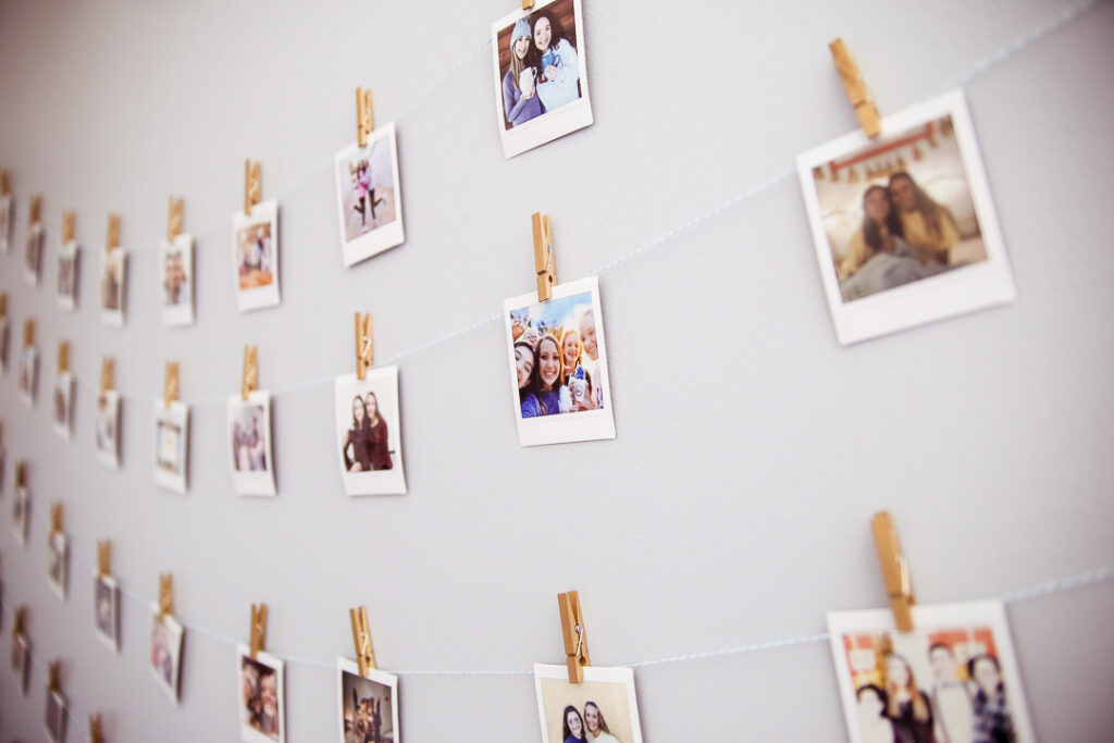 Instax polariod wall teen room idea 5