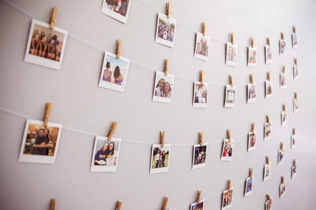 Instax polariod wall teen room idea 7